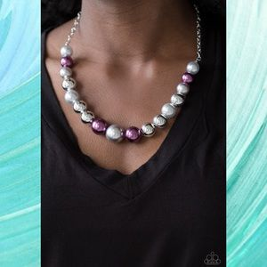 Take Note Multi Purple Necklace Set